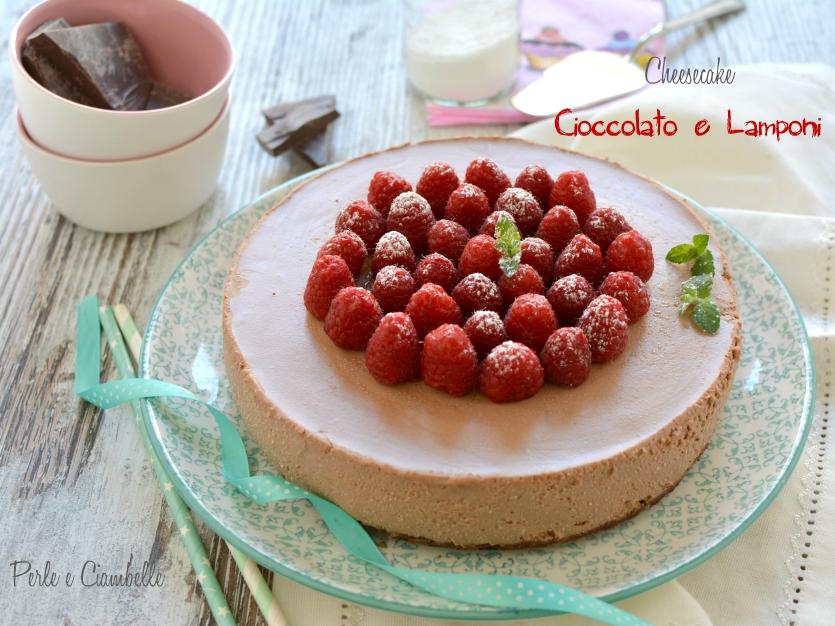 CHEESECAKE CIOCCOLATO E LAMPONI - ricetta senza cottura