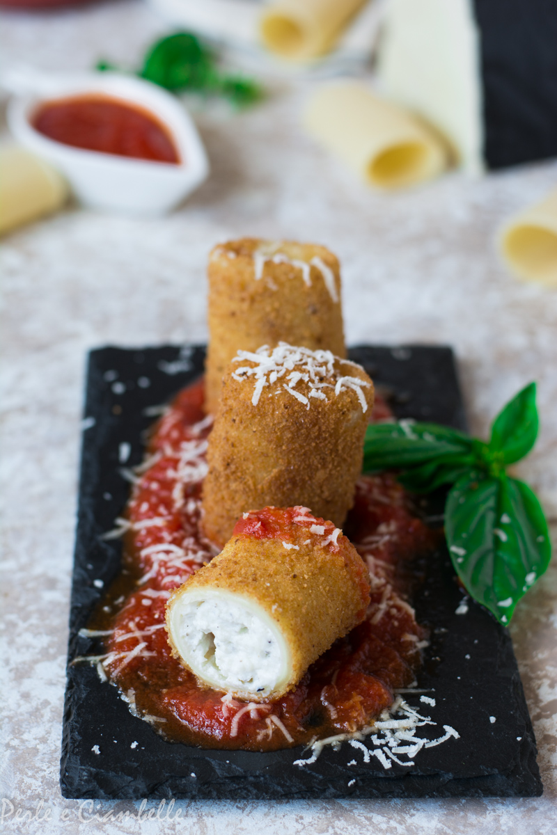 FRIED PACKAGES WITH ROMAN TRUFFLE, RICOTTA AND PECORINO