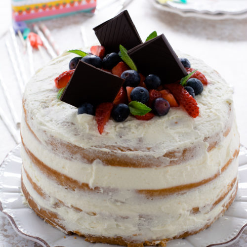 NAKED CAKE DI COMPLEANNO